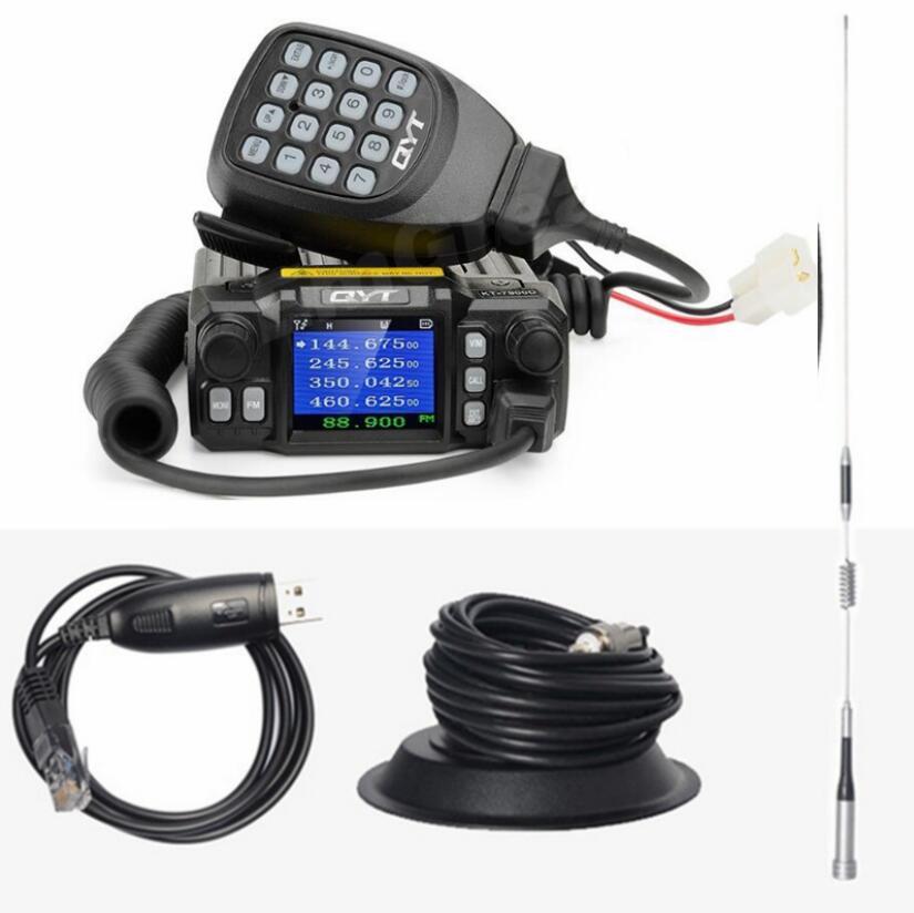 Image 3 - QYT KT 7900D mobile car radio walkie talkie 10 km quad band  fm mobile radio transceiver Mini In Vehicle Mobile Radio-in Walkie Talkie from Cellphones & Telecommunications