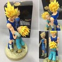 WVW 2pcs Set Hot Toys Anime Dragon Ball Z Action Figure High Quality PVC Super Saiyan