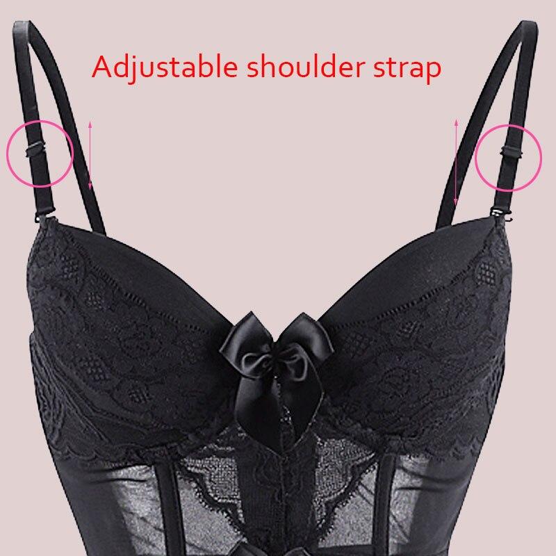 d502be488 Sexy Lingerie Women Underwear Fish Boned Waist Trainer Transparent ...