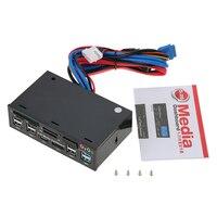 Memory Cards Fits USB 3.0 Hub eSATA SATA Port Internal Card Reader PC Dashboard Media Front Panel Audio for SD MS CF TF M2 MMC