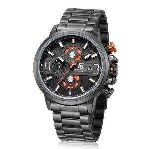 Image 4 - Rose Goud Zwart Quartz Chronograaf T5 Mannen Horloge Waterdicht Heren Horloges Topmerk Luxe Sport Man Horloge