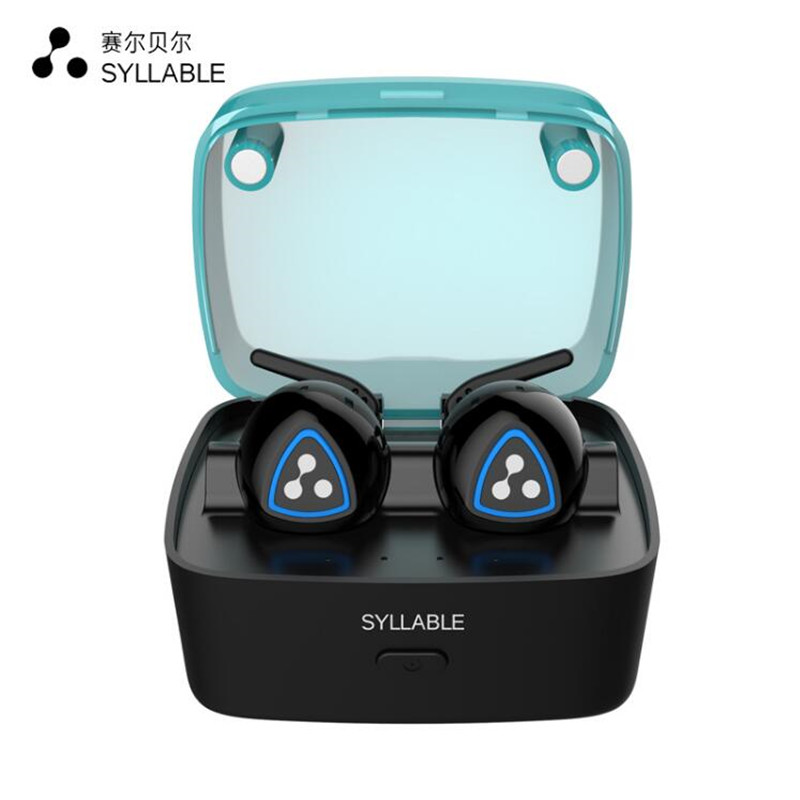 SYLLABLE D900S bluetooth 4.0 earphone noise reduction bluetooth headset for mobile phone in-ear sweatproof with charge box duplo my first 10851 мой первый автобус