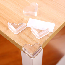 Купить с кэшбэком 4pcs/lot Children Protection Silicone Child Baby Safety Table Corner Edge Protection Cover Anticollision Edge Corner Guards