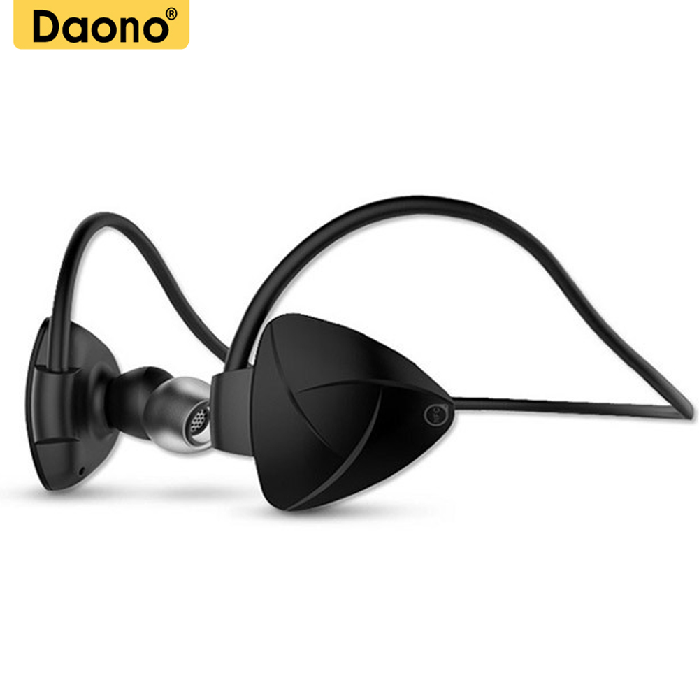 Daono Wireless Bluetooth with Mic Wireless headset Sport Noise Cancelling Headphones Sweatproof Running Gym Exercise earphones a01 bluetooth headset v4 1 wireless headphones noise cancelling with mic handsfree earpiece for driving ios android