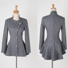 TANGNEST Elegant Women Spring Blazers 2017 Fashion Blended Tuxedo Grey Black Coat Work Wear Suit Casual Jacket WWX329