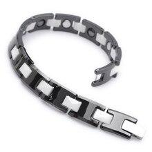Mens Magnetic Bracelet Mens font b Health b font Care Jewelry Wholesale Fashion Tungsten Bracelet B307