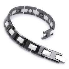 Mens Magnetic Bracelet Mens Health Care Jewelry Wholesale Fashion Tungsten Bracelet B307