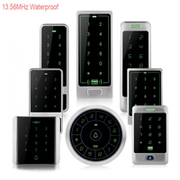 13 56MHz RFID Metal Waterproof Access Control With Touch Keypad Card Reader 10 Mifare 1k Keyfobs