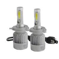 2x CREE COB Car Styling Cars Headlight LED H4 H1 H7 H11 9005 9006 880 60W