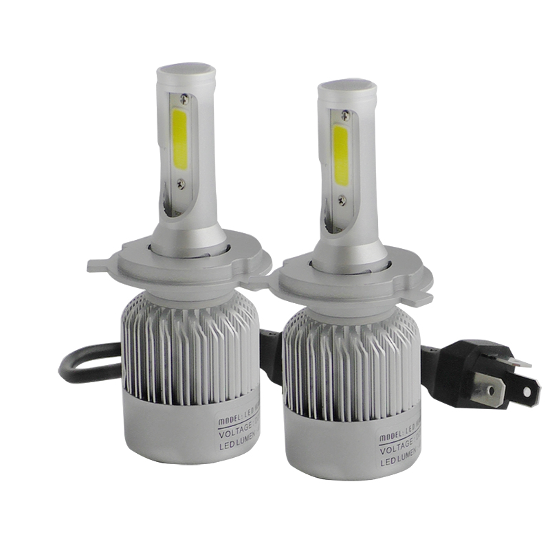 2 Pcs Car-styling Car H4 H7 LED Headlights Bulb HB1 9004 HB3 9005 HB4 9006 H13 H27 880 H3 H8 H9 H11 H1 LED H7 H4 Lights for Car
