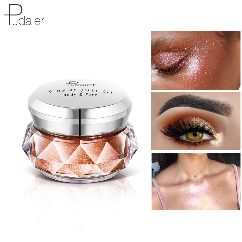 Eye Shadow Obedient 1pc 8color Jelly Gel Face Highlighter Cream Face High Light Liquid Body Shimmer Glitter Metallic Texture Mermaid Eyeshadow Tslm2