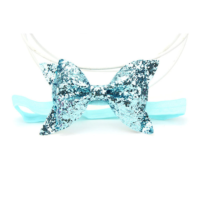 Sparkling Hair Accessories Bows Baby Girl Headbands Elastic Bowknot Infant Newborn Baby Hair Band Headband Baby Turban Headwear