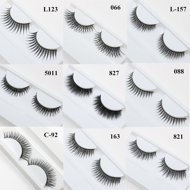Cheap Volume Eyelash Extensions Real 3D Mink Strip Lashes Wispie False Eyelashes Natural Sex Eye Makeup Extension Tool