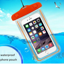 купить Swimming Bags Waterproof Bag with Luminous Underwater Pouch Phone Case For iphone 6 6s 7 8 X universal all models 3.5 -6 inch онлайн