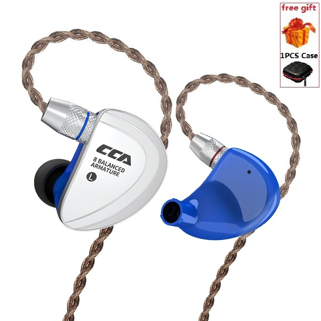 CCA C16 8BA Drive Units In Ear Earphone HIFI Monitor earphone Headset 8 Balanced Armature Detachable Detach 2Pin Cable PK C10