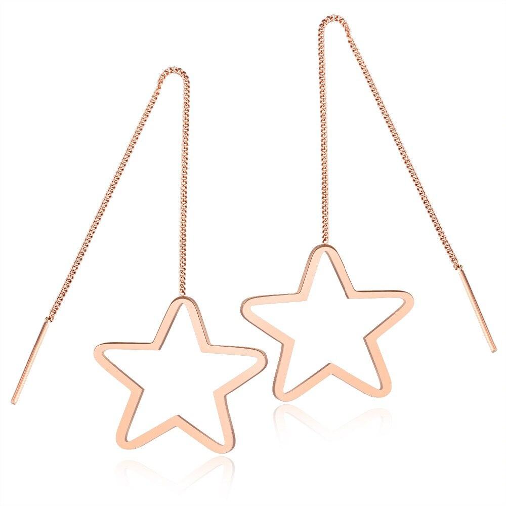 Звезды кисточкой Темперамент ухо провода контракту Titanium стали покрытие из розового з ...