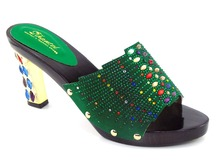 Gut aussehende Afrikanischen stil sandalen für party, hohe qualität damen schuhe mit PU leder!! Q1-55