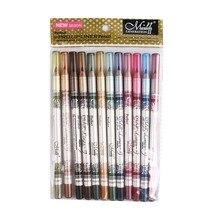 MENOW Brand  2 in 1 Hot Sale Eye Liner eyeshadow  Pencil Long-lasting Waterproof 12 pcs Set Makeup 12 colors