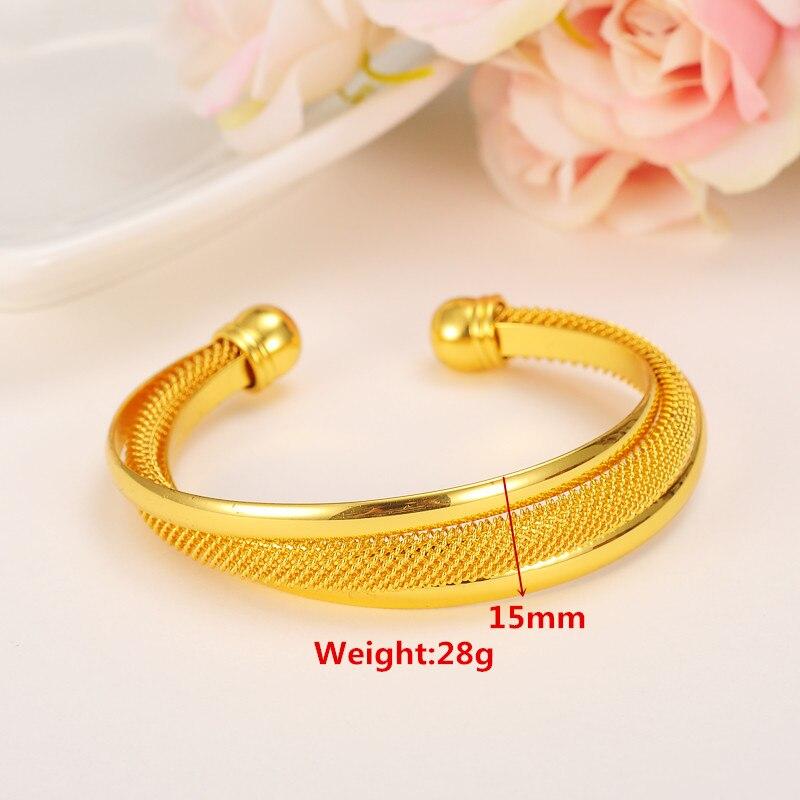Bangrui 24K Gold Bangle For Women Girls Men Dubai African USA ...