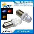 100 unidades sin parpadeo pinball Pinball 6.3 V LED luces led claro lente de Reemplazo de Bombillas #44 #47 ba9s 906 Wedge Base anti fantasma