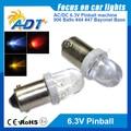 100units no flickering Pinball 6.3 V LED pinball led lights clear lens Replacement Bulbs #44 #47 ba9s 906 Wedge Base anti ghost