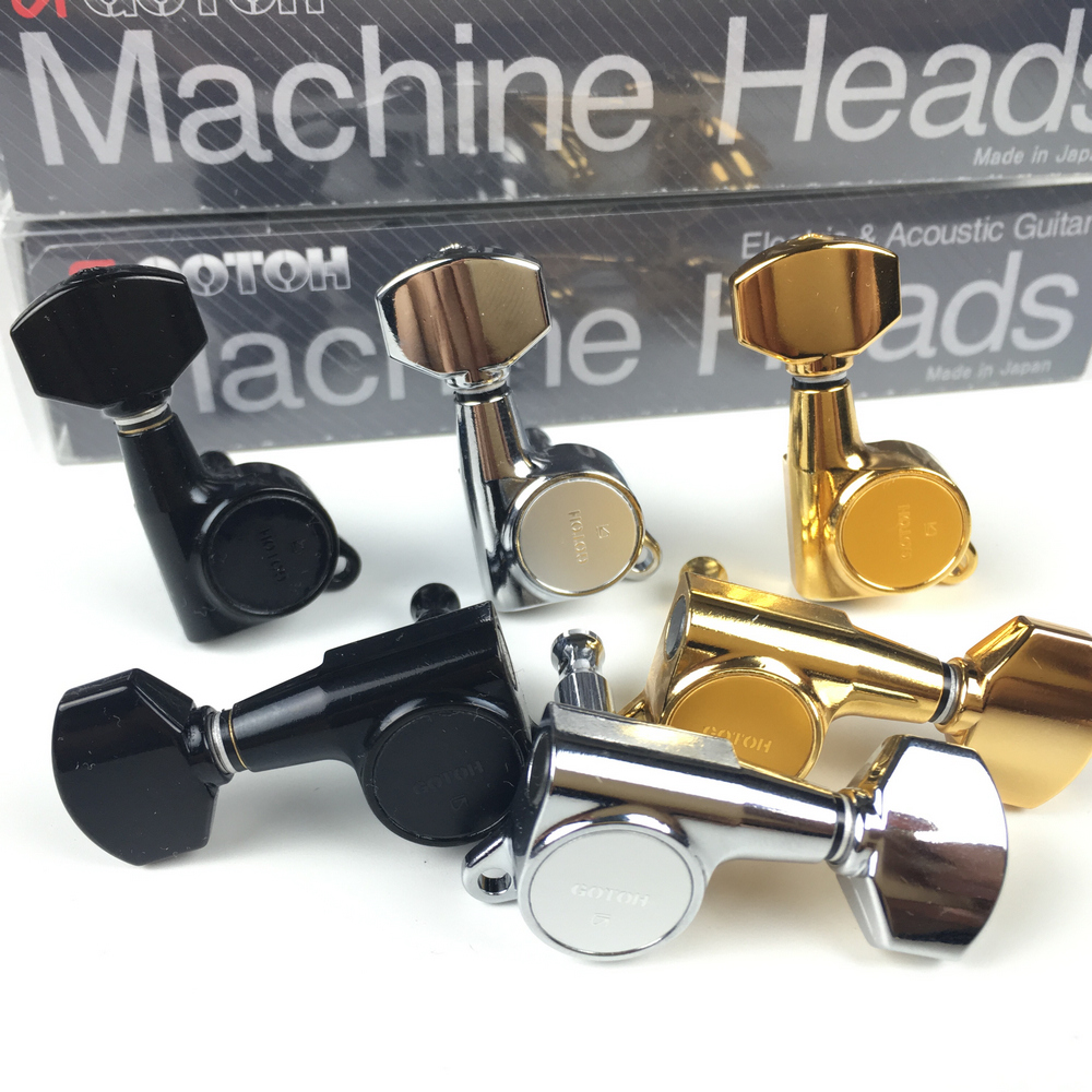 Original GOTOH SG381 07 Electric Guitar Machine Heads Tuners Chrome Black Gold Silver Tuning Peg MADE