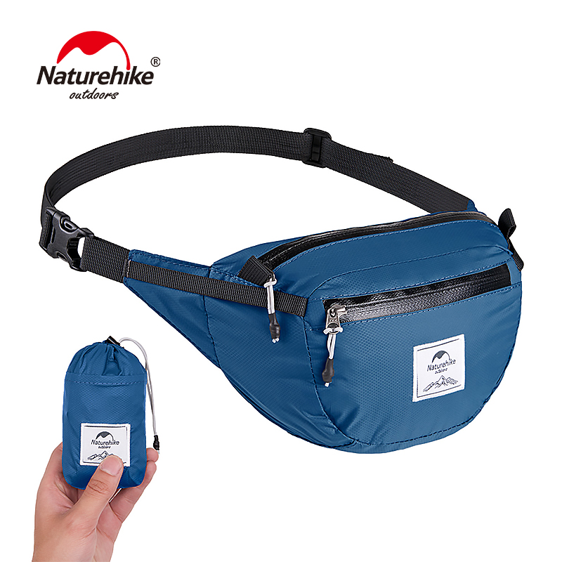 Naturehike Lightweight Water-resistant Waist Pack Travel Outdoor Sports Bag Hiking Running Mini Waist Bag NH18B300-B