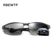 RBEWTP Aluminum magnesium Frame HD Lens Photochromic Sports Polarized Sunglasses Men Driving Day and Night Vision