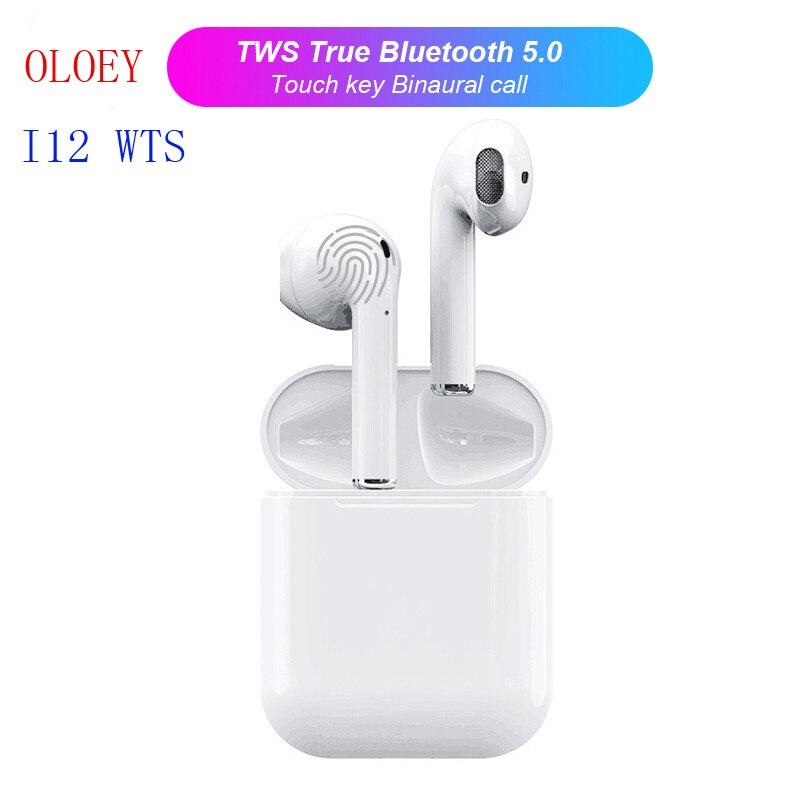 2019 i12 TWS Mini sans fil Bluetooth 5.0 écouteurs tactiles avec boîtier de charge micro pour Iphone Samsung Android Xiaomi huawei