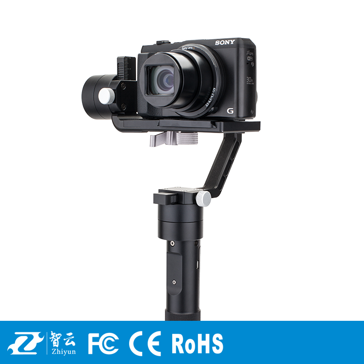 F19238 Zhiyun Crane M Support 650g 3-axle Handheld Stabilizer Gimbal for Gopro 3/5 Xiaoyi Action DSLR Cameras Smartphone yuneec q500 typhoon quadcopter handheld cgo steadygrip gimbal black