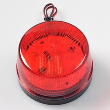 Chuangkesafe 2Pcs/Lot Red LED Flash Siren 12V Security Light Alarm Strobe Warning Alert Lamp Singal