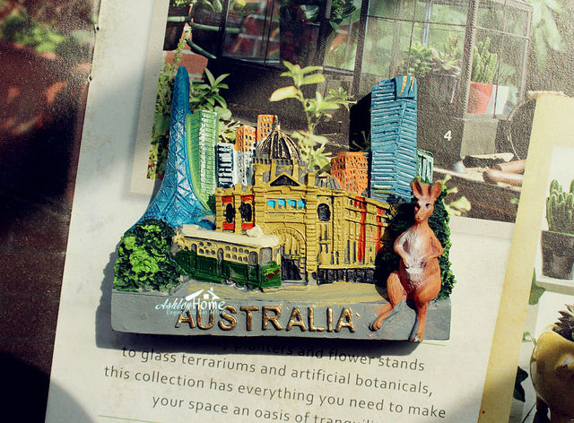 australia melbourne kangaroo tourist travel souvenir 3d resin