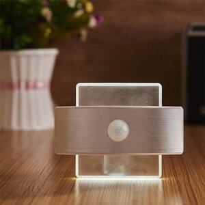 Image 4 - LED Motion Wall light bateria AA akumulatorowa lampa LED czujnik lampka nocna wewnętrzne światło bezpieczeństwa do schodów kuchnia korytarz szafa