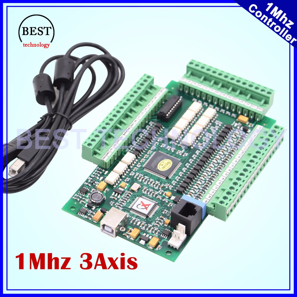 MACH3 3 Axis USB Motion Control Card 1Mhz breakout board interface Controller Driver Board 1M hz for stepper motor & servo motor 4 axis usb mach3 motion control card four axis breakout interface board for cnc machine