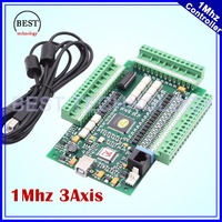 MACH3 3 Axis USB Motion Control Card 1Mhz breakout board interface Controller Driver Board 1M hz for stepper motor & servo motor