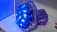 Batería de Regalo de san valentín Rose Flor rama Luz en paquete de regalo agradable disposición 11 Unids LED Rose Flores te Amaré por siempre