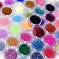 45 Colores Glitter Polvo de Uñas de Acrílico Arte UV Gel Tips Manicura Nail Brillante Decoración de DIY