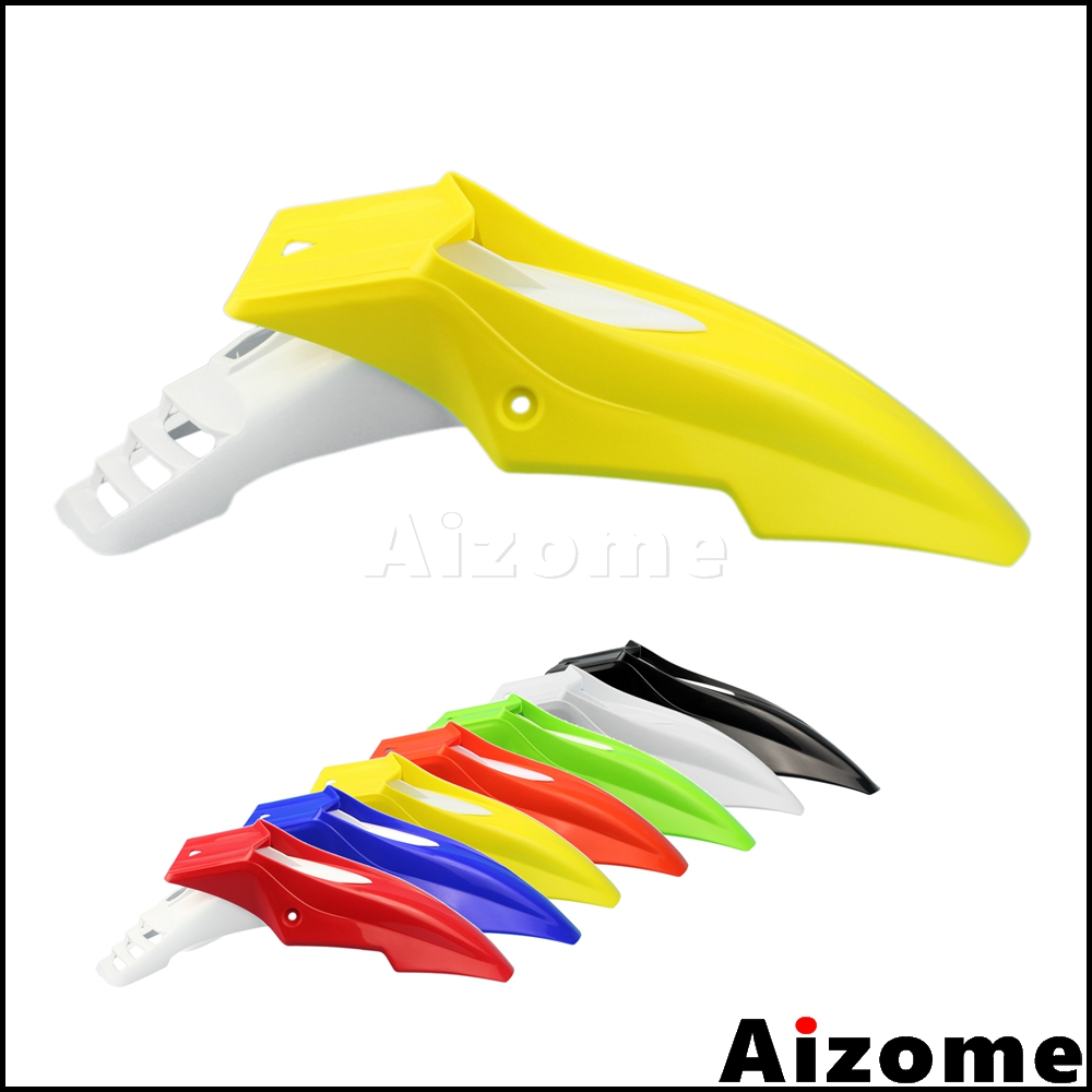 Universal Yellow White Dirt Bike Mudguard For Suzuki <font><b>DR</b></font> DRZ RM RMZ 125 <font><b>200</b></font> 250 400 450 650 Off Road Motocross Front Fender image