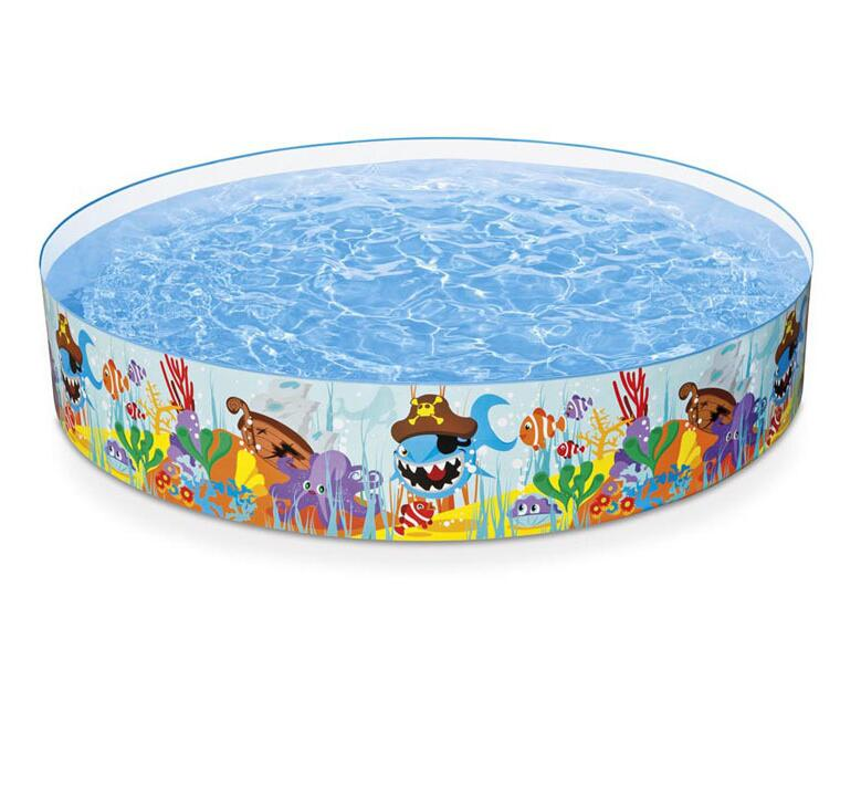 INTEX56453 hard plastic baby pool large inflatable pool without insulation families with children swimming pool barrel 244*46cm thicker version deluxe edition 2 meters large family luxury inflatable swimming pool game pool children s play pool
