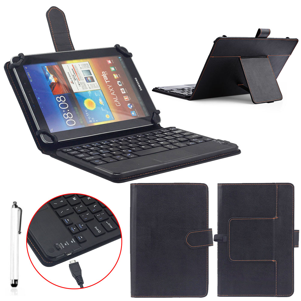 """NEW Universal 10"""" Wireless Bluetooth Keyboard PU Leather Protect Case For Windows XP/Window 7 and above /Androids 3.0 and above"""