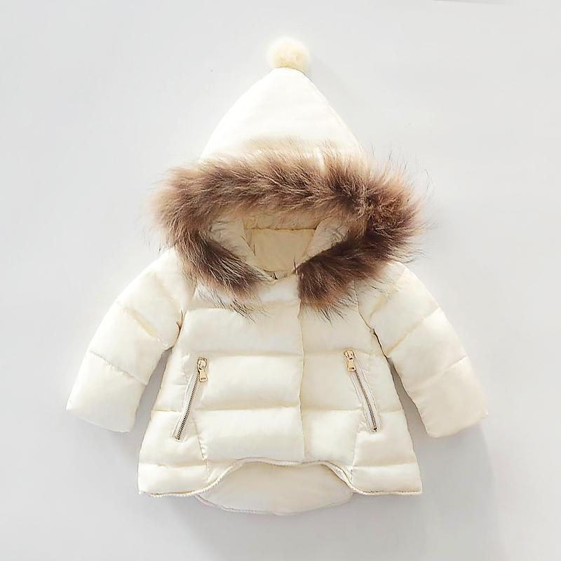 Hot Sale Baby Girls Winter Down Coat 2018 New Kids Thick Warm Clothing  Children Outwear Infant Padded Fur Jacket Beige Red Black-in Snow Wear from  Mother ... 666bd8e72948