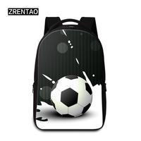 12/13/14/15 Inch Laptop Backpack School Bags Mens Rucksack Good Quality Shoulder Back Pack Women Zippered Schoolbag Soccer Print