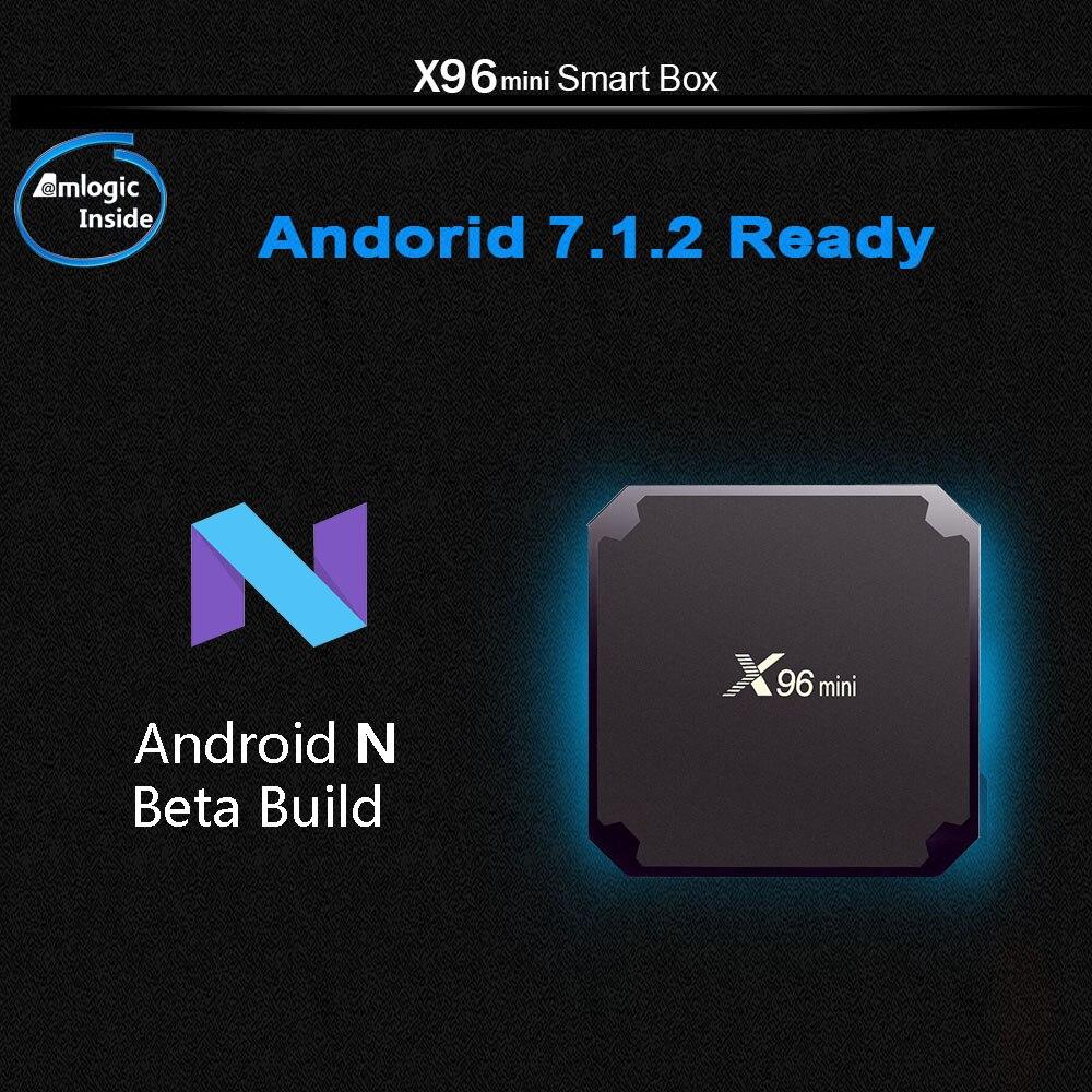 X96mini Smart TV Box Android 7.1.2 Amlogic S905W Quad Core 2.4 ghz WiFi 1G8G/2G16G 4 k HD X96 mini Set-top Box Media Player PK X92