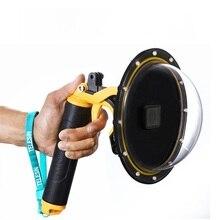 Телесин 6 «Купол Порты и разъёмы крышка с Водонепроницаемый случае Корпус плавающей ручка пистолет триггера для GoPro Hero 5 купол объектив Аксессуары