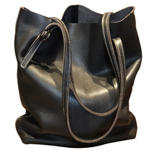 MZORANGE 2019 New Genuine Leather women Handbag Casual Totes Women High Capacity Shoulder Bag Designer Handbags
