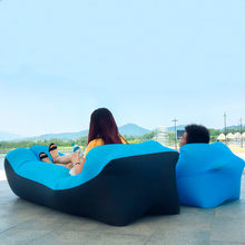 2019 Hot Koop Snelle Opblaasbare Sofa Lui Slaapzak 240*70 cm Camping Portable Air Banaan Sofa Strand bed Air Hangmat Nylon(China)