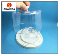 Free Shipping 1pc Plastic Transparent Double Dust Cover Watchmaker Watch Parts