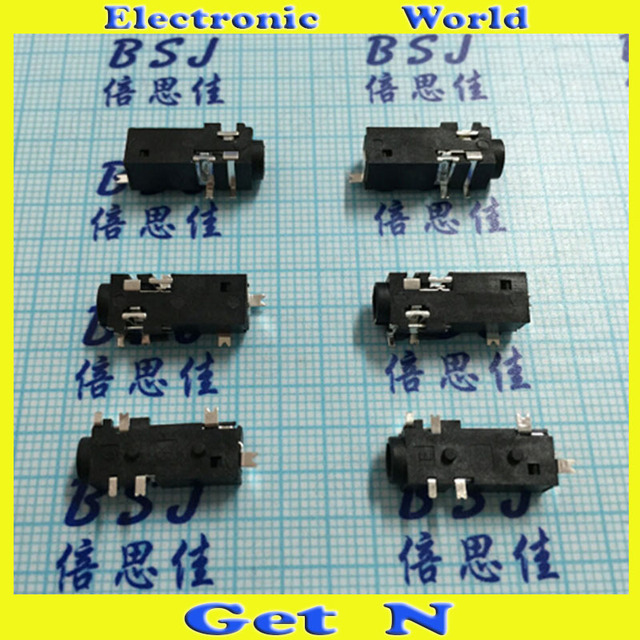 300pcs PJ 328 6SMD pins Sliver Plating 3.5MM HeadPhone Jacks 3.5MM ...