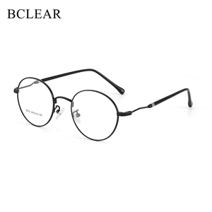 Image 1 - BCLEAR 2019 New Man Woman Retro Large Round Glasses Metal Alloy Eyeglass Frame Black Silver Gold Spectacles Eyeglasses Optical