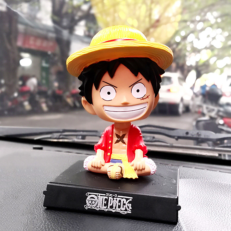Us 5 31 23 Off New High Quality Funny Doll Car Shaking Head Toy Monkey D Luffy Decoration Dashboard Ornaments Auto Parts Interior Accessories In